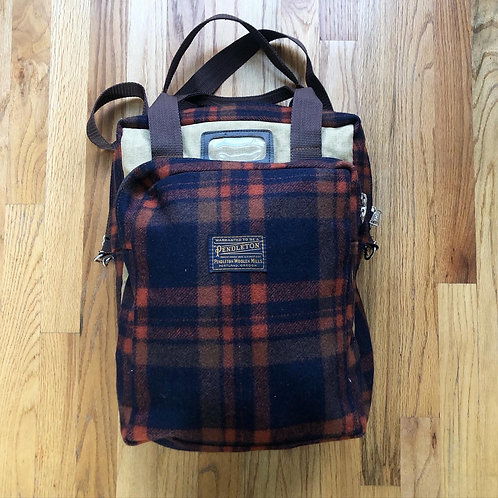 Vintage Pendleton USA Wool Book Bag