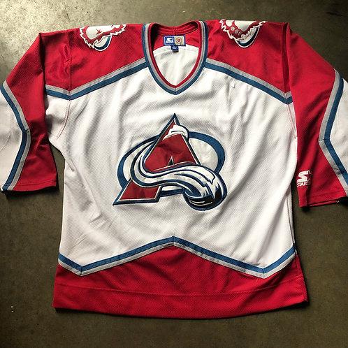 Vintage Starter Colorado Avalanche Jersey Sz L