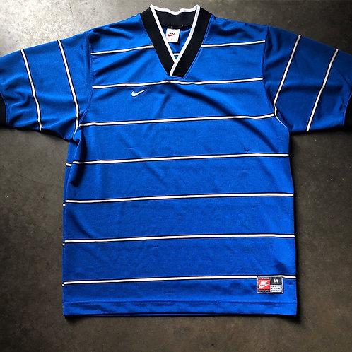 Vintage Nike USA Blue Striped Soccer Jersey Sz M