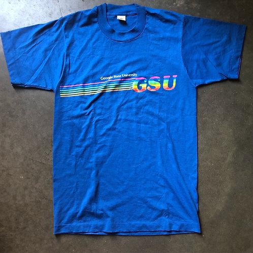 Vintage 80s Velva Sheen Georgia State University T Shirt Tee Sz S/M