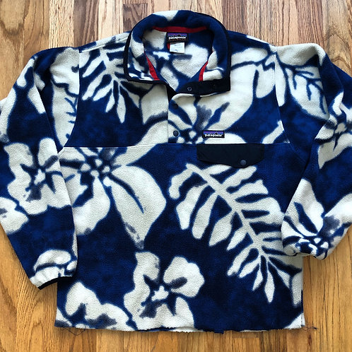 Patagonia Snap T Floral Fleece Pullover Sz S