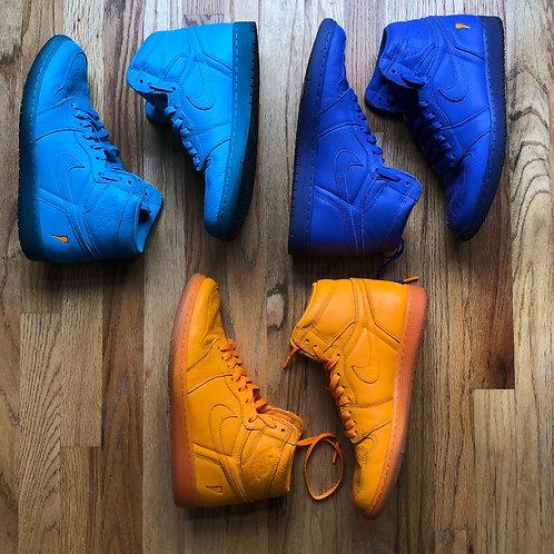 Air Jordan 1 Retro High Gatorade Pack Orange Cool Blue & Grape Sz 11