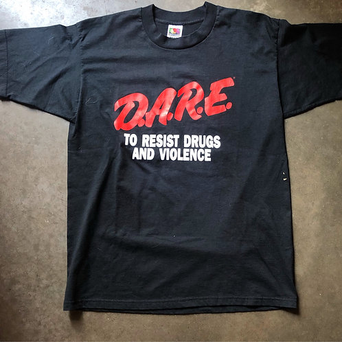 Vintage DARE To Resist Violence and Drugs T Shirt Tee Sz L