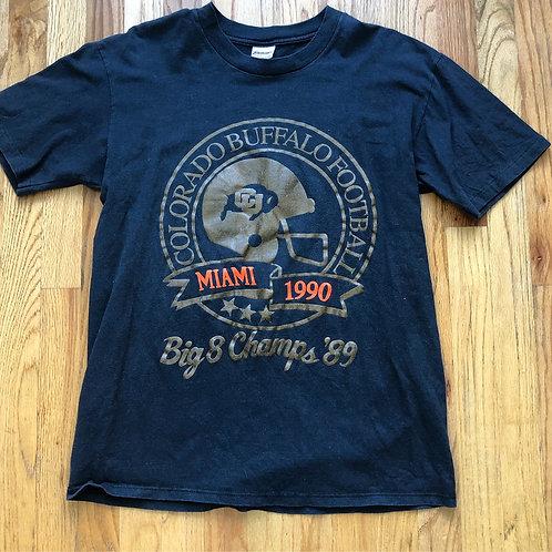 Vintage Colorado Buffaloes Big 8 Champs T Shirt Tee Sz M/L