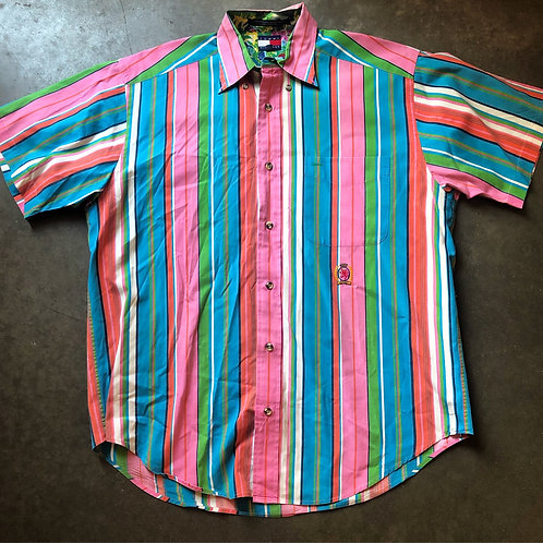 Vintage Tommy Hilfiger Pastel Button Up Shirt Sz S