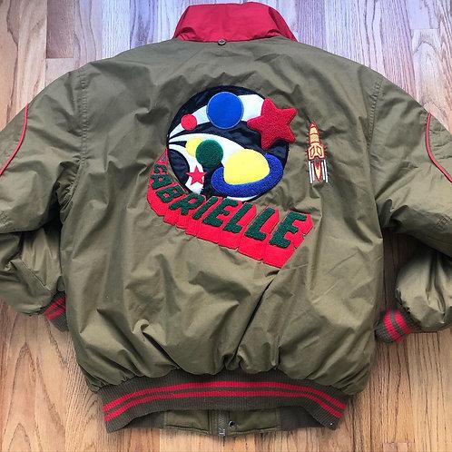 Vintage Gabrielle Down Puffer Bomber Jacket Sz XL