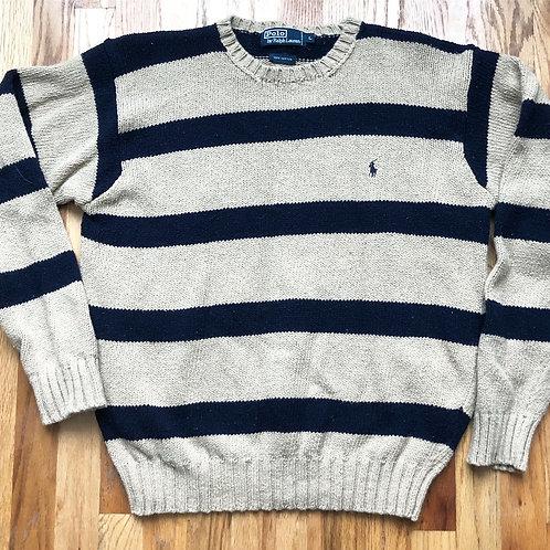 Vintage Polo Ralph Lauren Striped Crewneck Sweater Sz L