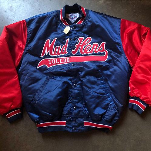 NWT Vintage Toledo Mud Hens Satin Bomber Jacket Sz XL