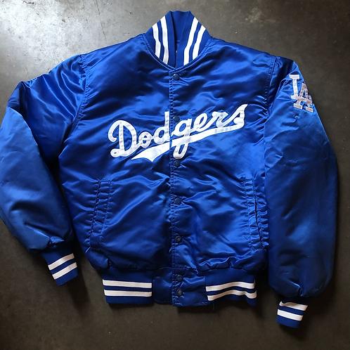 Vintage Eastport Los Angeles Dodgers Satin Bomber Jacket Sz M