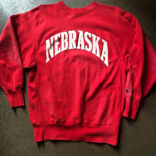 Vintage Champion Reverse Weave Nebraska Corn Huskers Crewneck Sweatshirt Sz XL
