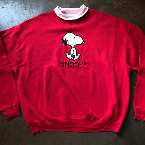 Vintage Peanuts Snoopy Crewneck Sweatshirt Sz L