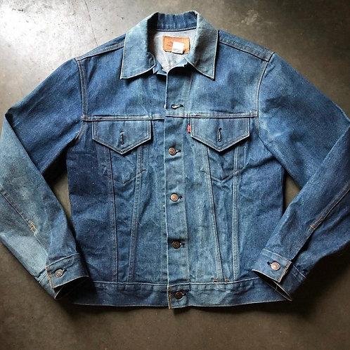 Vintage 70s Levi's USA Faded Denim Jacket Sz 38 (Small)