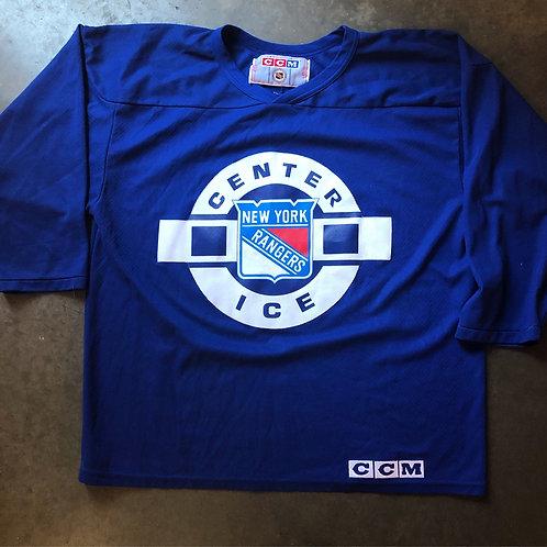 Vintage CCM New York Rangers Center Ice Jersey Sz L