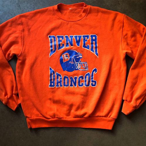Vintage Denver Broncos Orange Crush Crewneck Sweatshirt Sz L