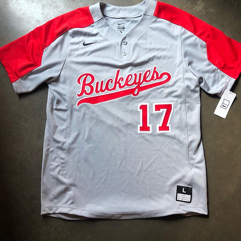 NWT Nike Ohio State Buckeyes Team Issued Sample Baseball Jersey Sz L