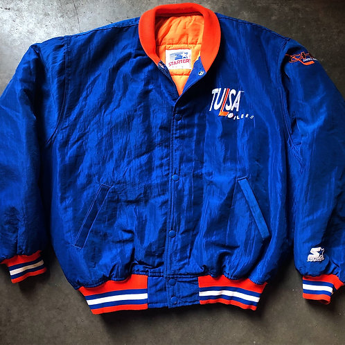 Vintage Starter Tulsa Oilers CHL Bomber Jacket Sz M/L