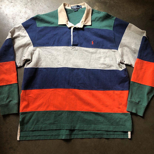 Vintage Polo Ralph Lauren Striped Rugby Sz XL