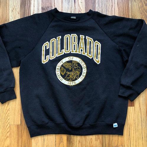 Vintage Colorado Buffaloes Crewneck Sweatshirt Sz L