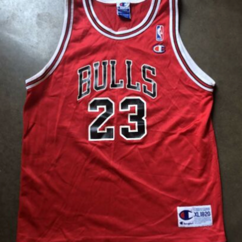Champion Chicago Bulls Michael Jordan Jersey Sz Youth XL