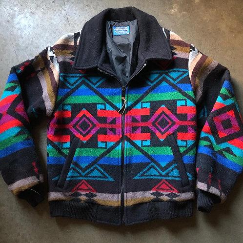 Vintage Pendleton High Grade Wester Wear Aztec Jacket Sz M