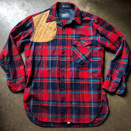 Vintage Pendleton Outdoors Man Wool Flannel Button Up Sz L