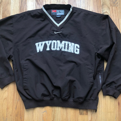 Nike Center Check Wyoming Cowboys Windbreaker Jacket Sz L
