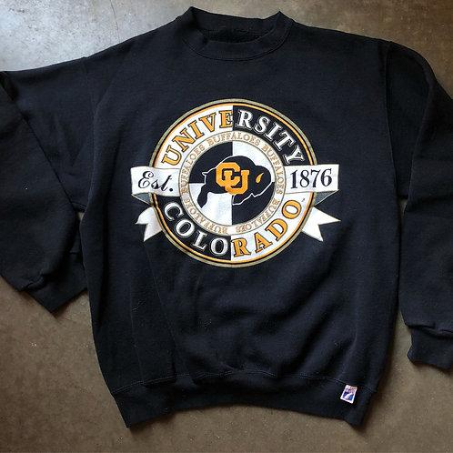 Vintage Logo 7 Colorado Buffaloes Crewneck Sweatshirt Sz L/XL