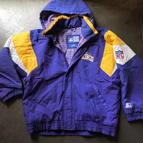 Vintage Starter Minnesota Vikings Puffer Jacket Sz L