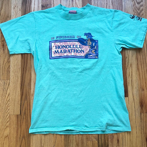 Vintage 1987 Honolulu Marathon Finisher T Shirt Tee Sz L