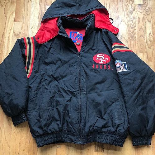 Vintage Pro Player San Fransisco 49ers Puffer Jacket Sz 2XL