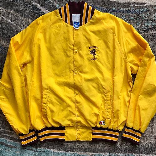 Vintage Champion Arizona State Sun Devils Bomber Jacket Sz 2XL/XL