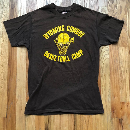 Vintage Converse Wyoming Cowboys Basketball Camp T Shirt Tee Sz M/L