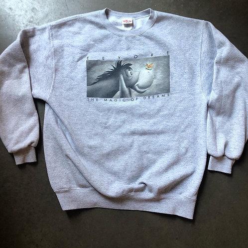 Vintage Eeyore The Magic of Dreams Crewneck Sweatshirt Sz L