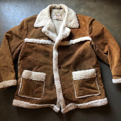 Vintage 70s Schott Bros NYC Sherpa Lined Rancher Jacket Sz 46 (XL)