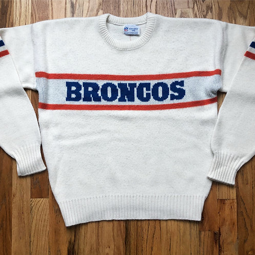 Vintage 80s Cliff Engle Denver Broncos Crewneck Sweater Sz XL