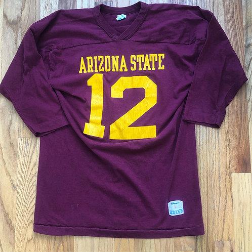 Vintage Champion Arizona State Sun Devils Football Jersey Sz L