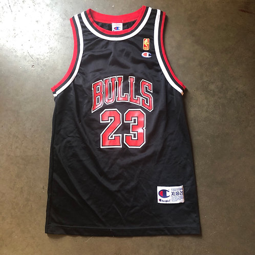 hot sale online c7a13 88d6f Vintage Champion Michael Jordan Chicago Bulls Jersey Sz Youth XL |  jqroundtwo