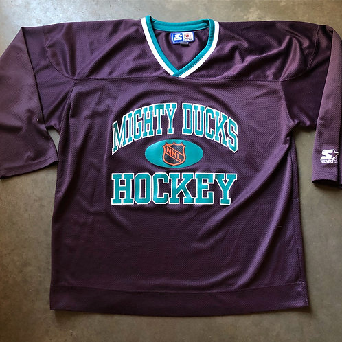 Vintage Starter Mighty Ducks Hockey Jersey Sz XL