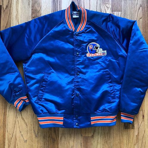 Vintage Chalk Line Denver Broncos Satin Bomber Jacket Sz M