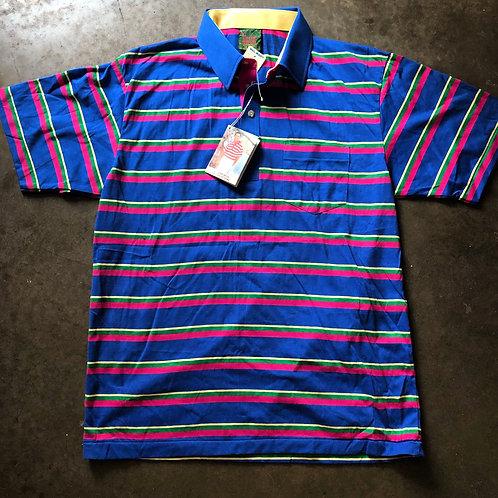 NWT Vintage Chip Beck Striped Golf Polo Sz L