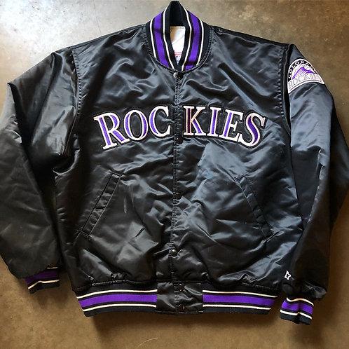 Vintage Starter Colorado Rockies Satin Bomber Jacket Sz L