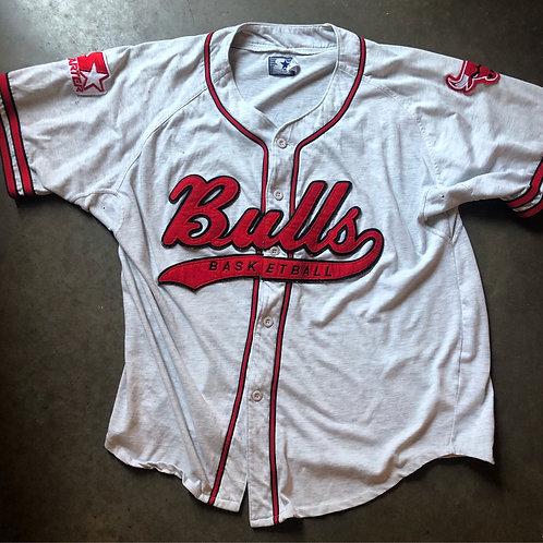 Vintage Starter Chicago Bulls Script Baseball Jersey Sz XL