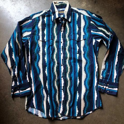 Vintage Panhandle Slim Western Wear Button Up Shirt Sz L