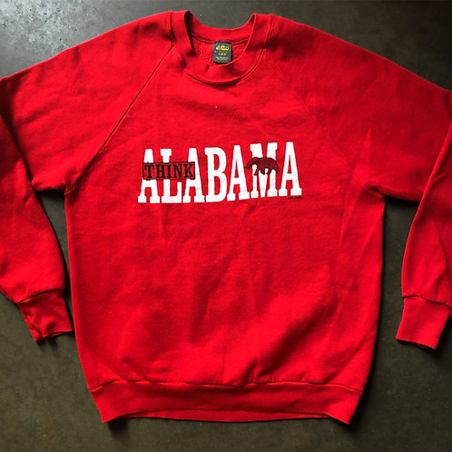 Vintage Jerzees Alabama Crimson Tide Crewneck Sweatshirt Sz S
