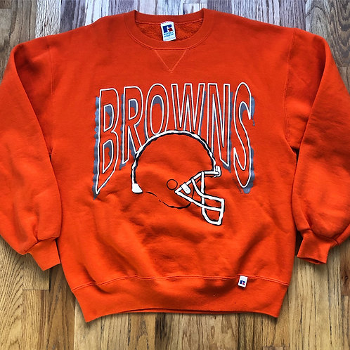 Vintage Russell Cleveland Browns Crewneck Sweatshirt Sz L