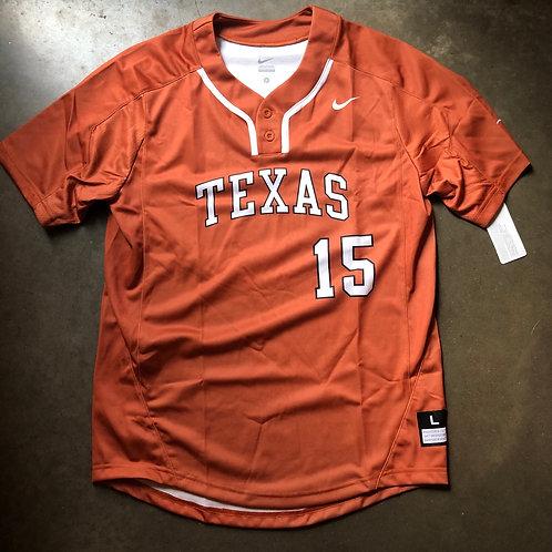 NWT Nike Texas Longhorns Team Issued Sample Baseball Jersey Sz L