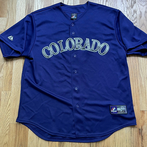 Majestic Colorado Rockies Troy Tulowitzki Jersey Sz XL