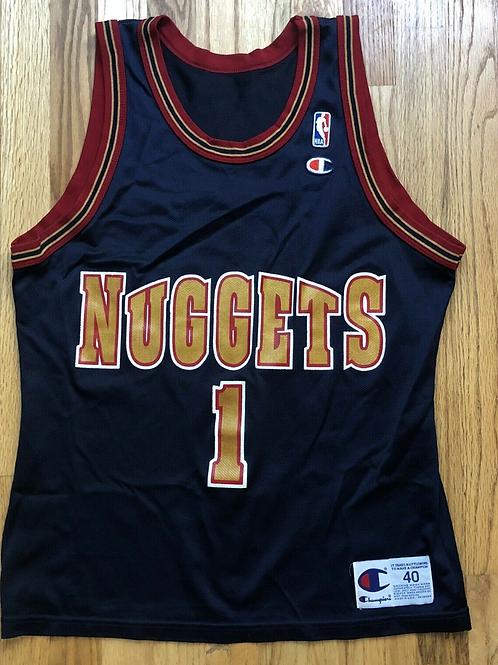 Vintage Champion Mahmoud Abdul-Rauf Denver Nuggets Jersey Sz 40