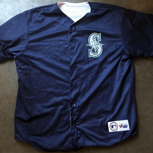Vintage Majestic Seattle Mariners Reversible Jersey Sz L