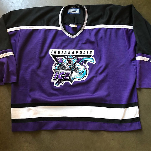 Vintage Bauer Indianapolis Ice CHL Jersey Sz XL
